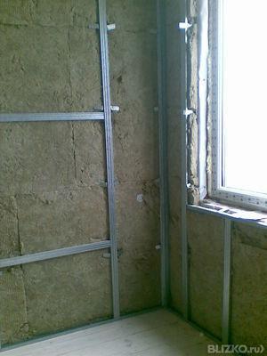 Утепление балкона базальтовый утеплитель..