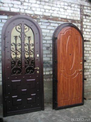 входные арочные двери стальные