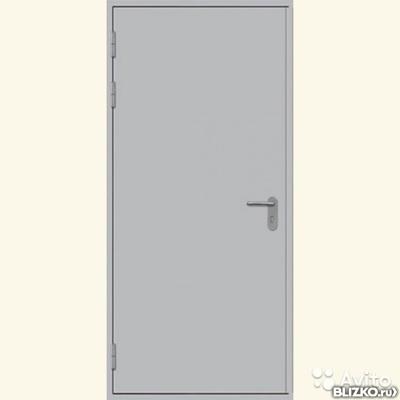 дверь металлическая глухая