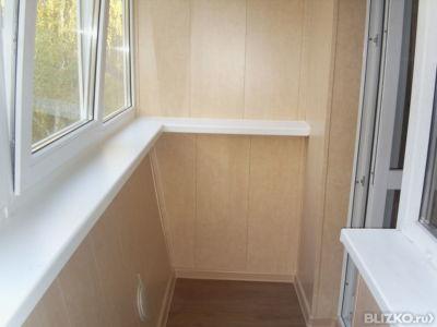 Внутренняя отделка балкона 6000*1000 пластиковой панелью с у.
