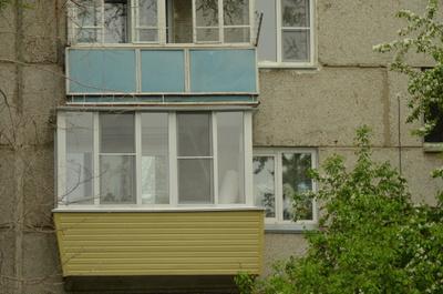 Остекление лоджий с выносом конструкции (панельный дом) от к.
