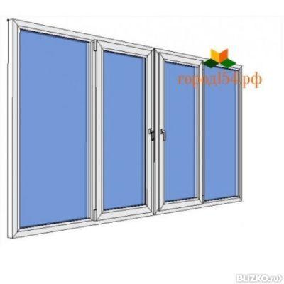 Окна раздвижные на балкон из металлического профиля..