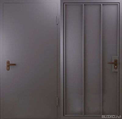 двери стальные глухие