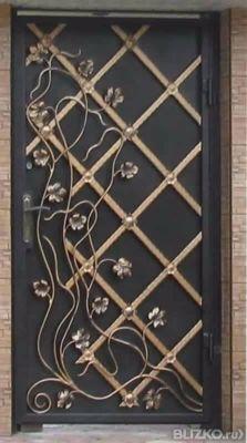 купить железные двери с элементами ковки