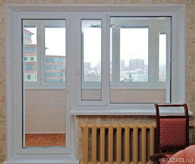 Балконный блок пластик. novoline 1 кам. глух/поворот-откидн..