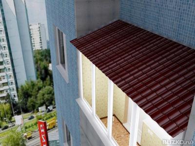Крыша на балкон 3 м проф лист на балкон 3 м в самаре - на по.